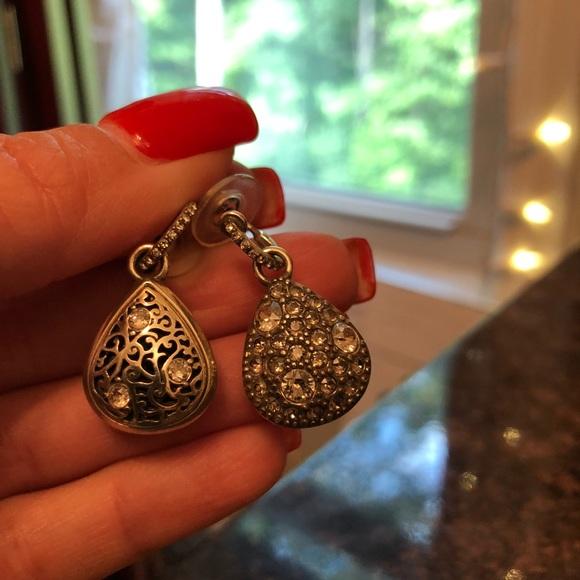 Brighton Anatolia Heart Reversible Post Hoop Earrings NWT $68